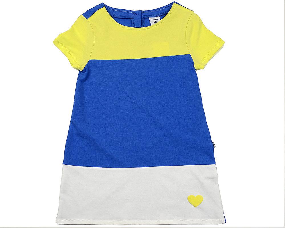 UD 2913(1)син/желт  Fifteen Платье (122-146см) UD 2913(1)син/желт