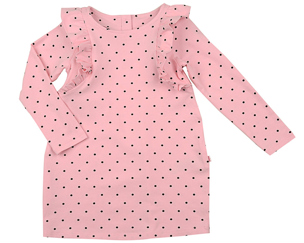 UD 1421(4)розовый  Mini Maxi Платье в горошек (92-116см) UD 1421(4)розовый