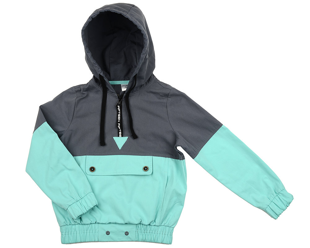 UD 4552(1)бирюза  Fifteen Анорак (куртка) (122-146см) UD 4552(1)бирюза