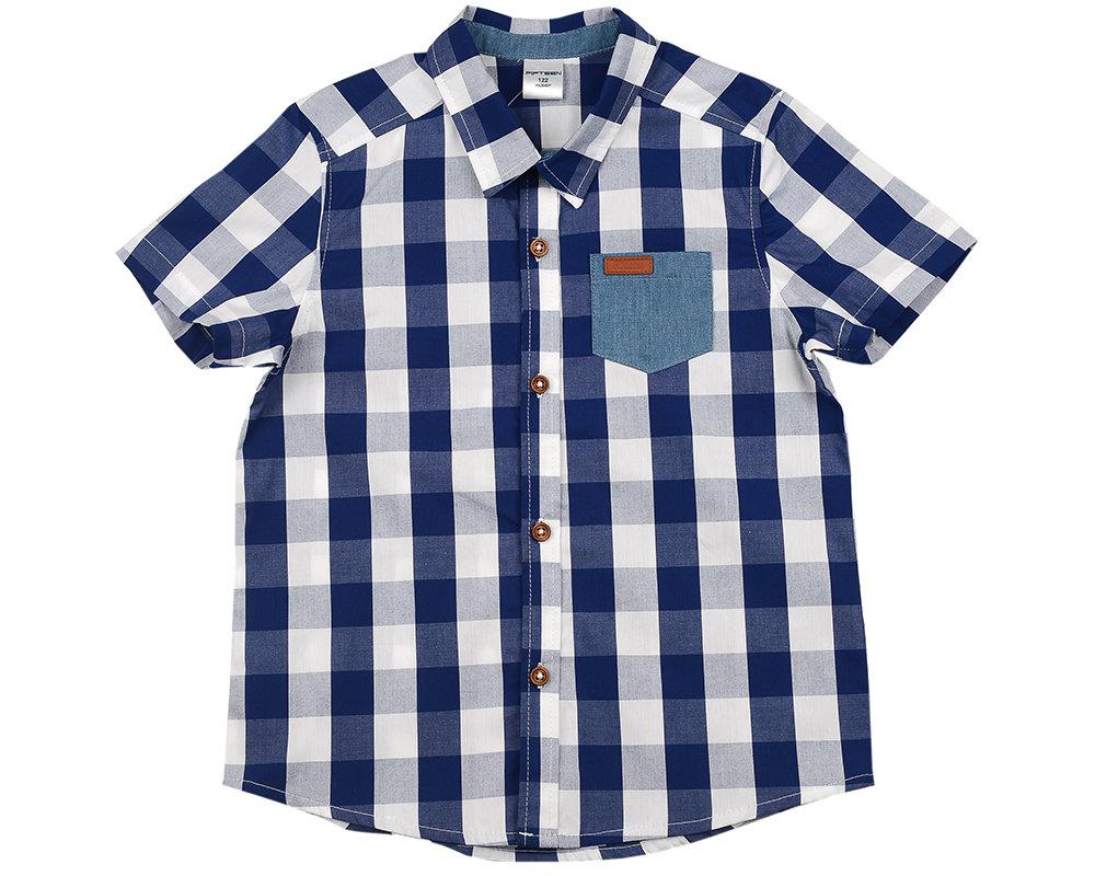 UD 4586(2)син.кл  Fifteen Сорочка (рубашка) (122-146см) UD 4586(2)син.кл