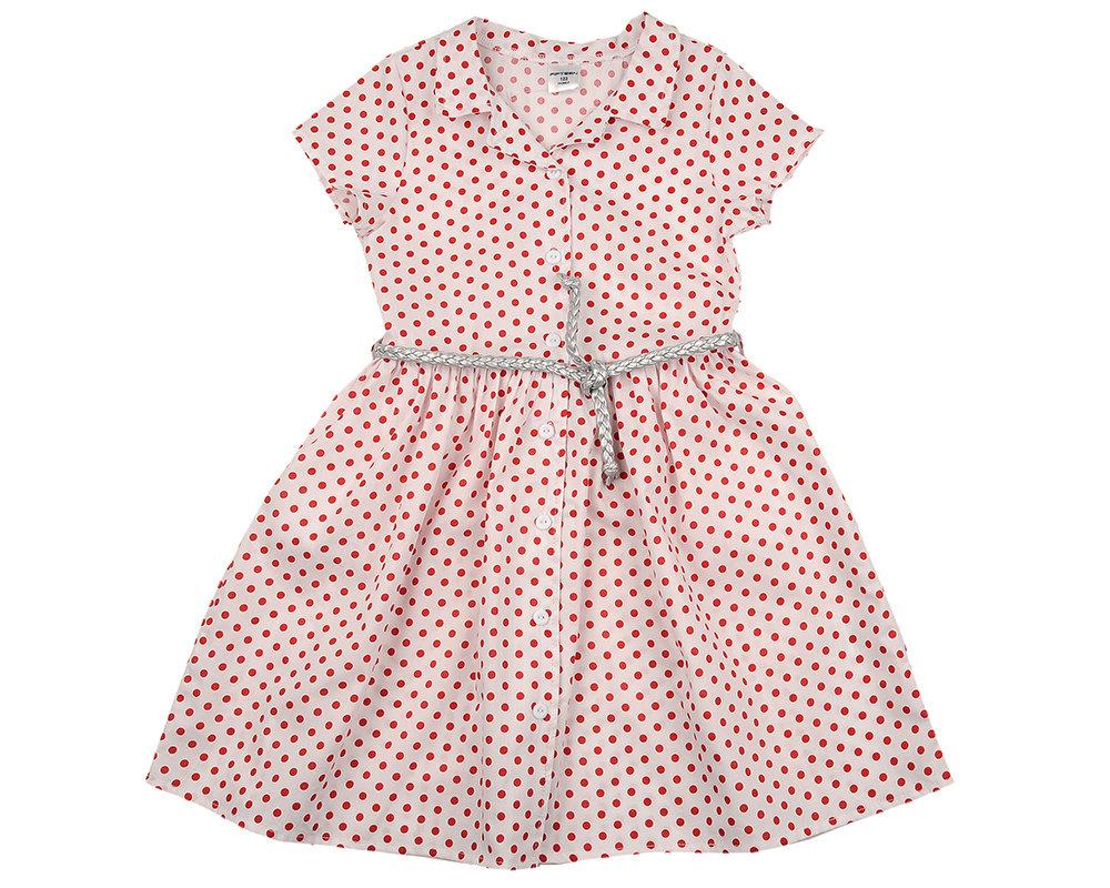 UD 4595(4)крас.горох  Mini Maxi Платье (122-146см) UD 4595(4)крас.горох