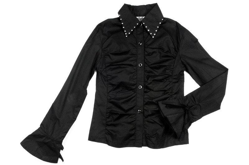 92531(1)черный  нет Блузка с дл. рукавом (116-140см) 92531(1)черный