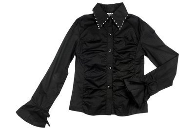 92531(1)черный  нет Блузка с дл. рукавом (116-140см)