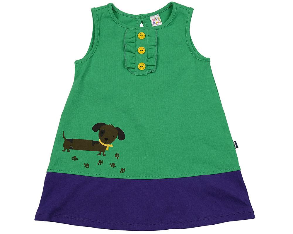 UD 1644(2)зел/сирень  Mini Maxi Платье Такса (92-116см) UD 1644(2)зел/сирень