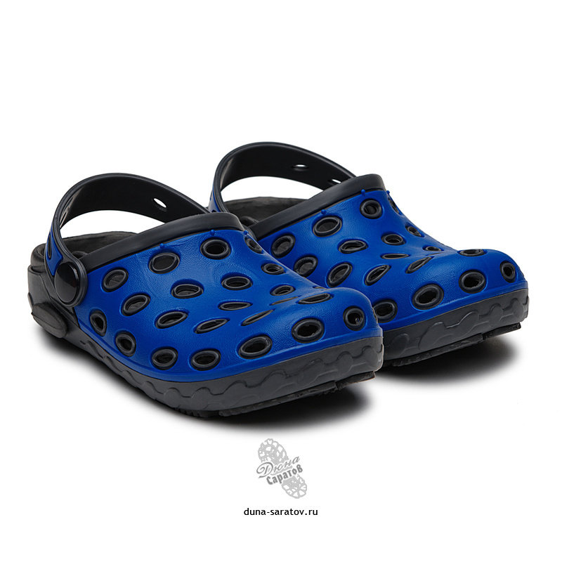 610-03 Кроксы Дюна, т.серый/с.синий/серый (24-29) 610-03