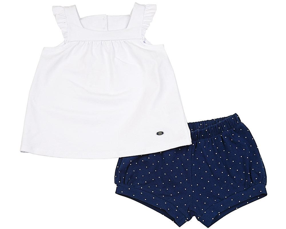 UD 1699/1700(2)бел  Mini Maxi Комплект (блузка+шорты) (98-116см) UD 1699/1700(2)бел