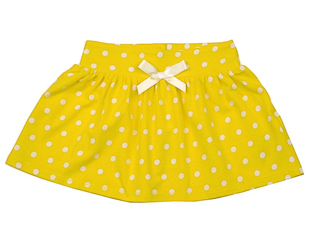 UD 3352(3)желтый  Mini Maxi Юбка в горох (92-116см) UD 3352(3)желтый
