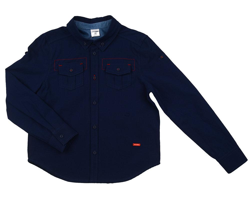 UD 4544(1)синий  Fifteen Сорочка (рубашка) (122-146см) UD 4544(1)синий