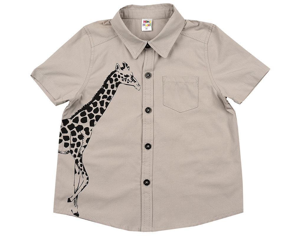 UD 4666(1)св.серый  Mini Maxi Сорочка (рубашка) (98-122см) UD 4666(1)св.серый