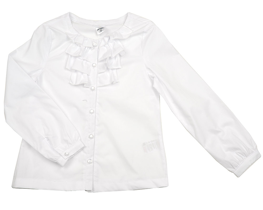 UD 5040 белый  Fifteen Блузка с дл.рукавом (152-164см)