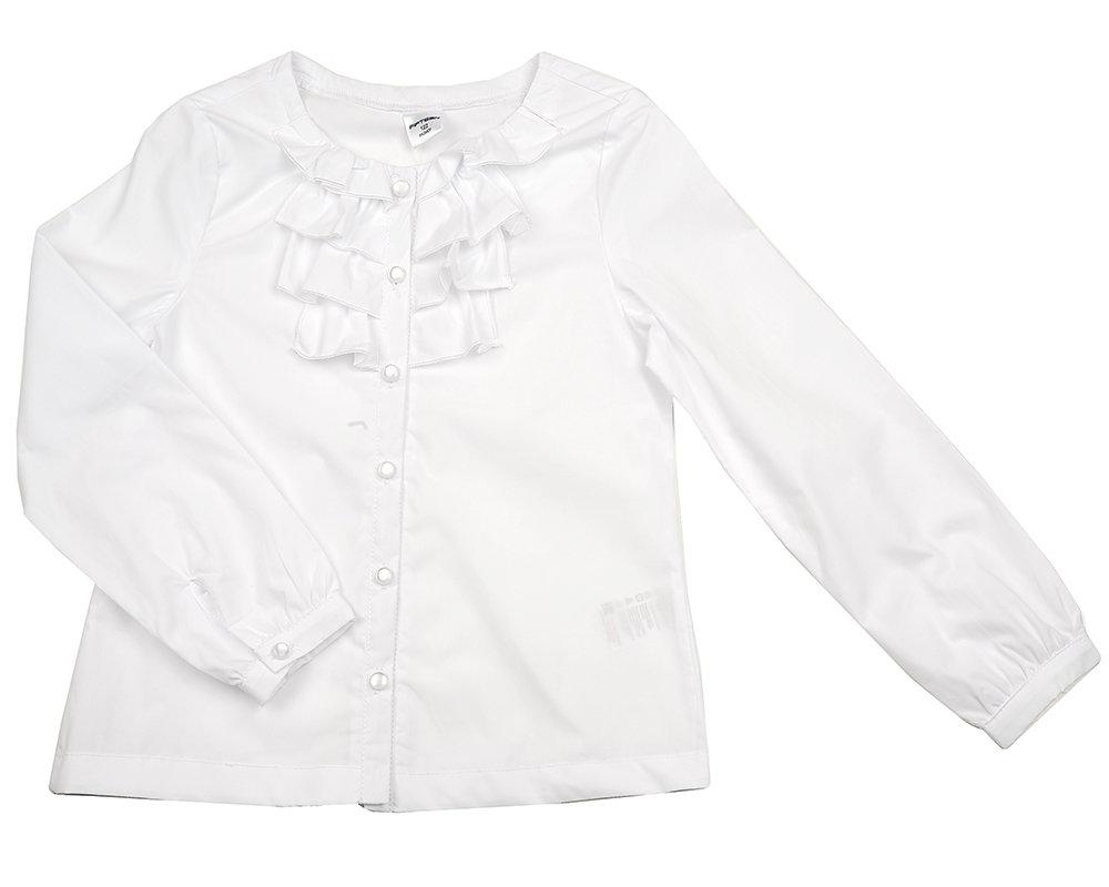 UD 2123 белый  Fifteen Блузка с дл. рукавом (122-146см) UD 2123 белый