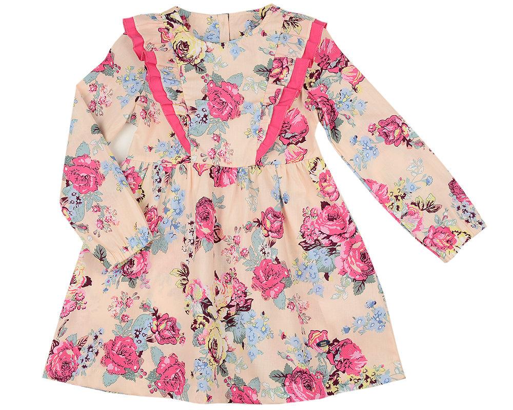 UD 4856(1)беж.розы  Mini Maxi Платье (98-116см) UD 4856(1)беж.розы
