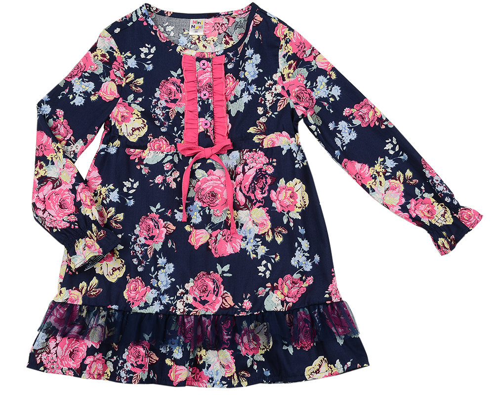UD 4842(1)син цветы  Mini Maxi Платье (98-122см) UD 4842(1)син цветы