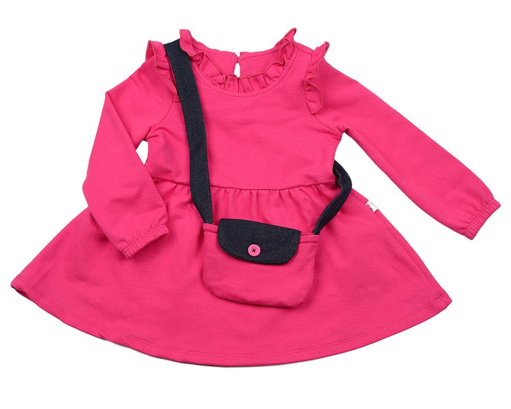 UD 2597(4)малина  Mini Maxi Платье с сумочкой (98-116см) UD 2597(4)малина