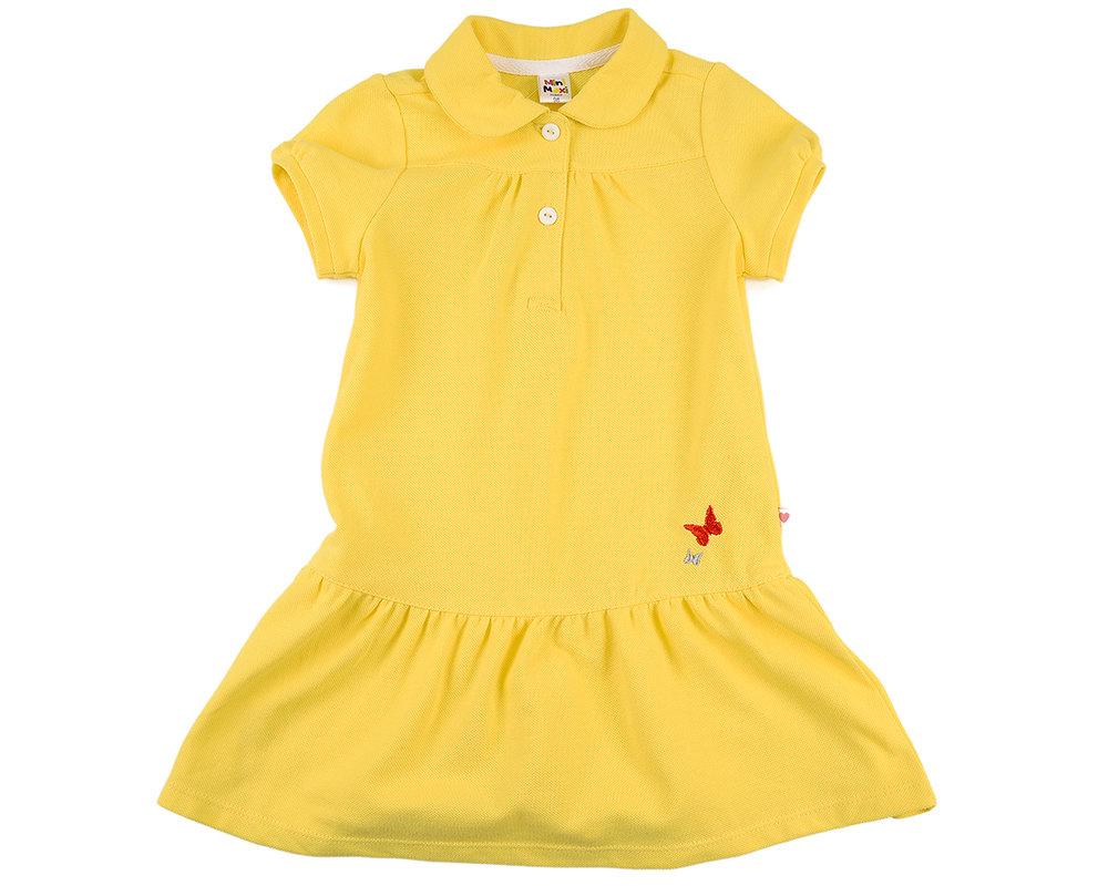 UD 0695(4)желтый  Mini Maxi Платье с бабочками (98-122см) UD 0695(4)желтый