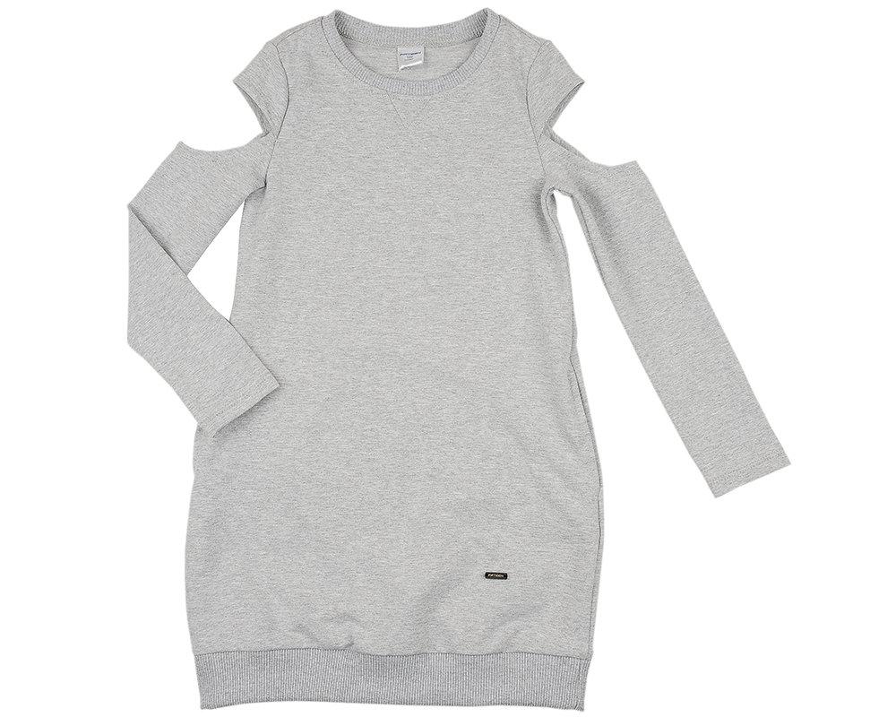Платье (122-134см) UD 6004(3)серый UD 6004(3)серый