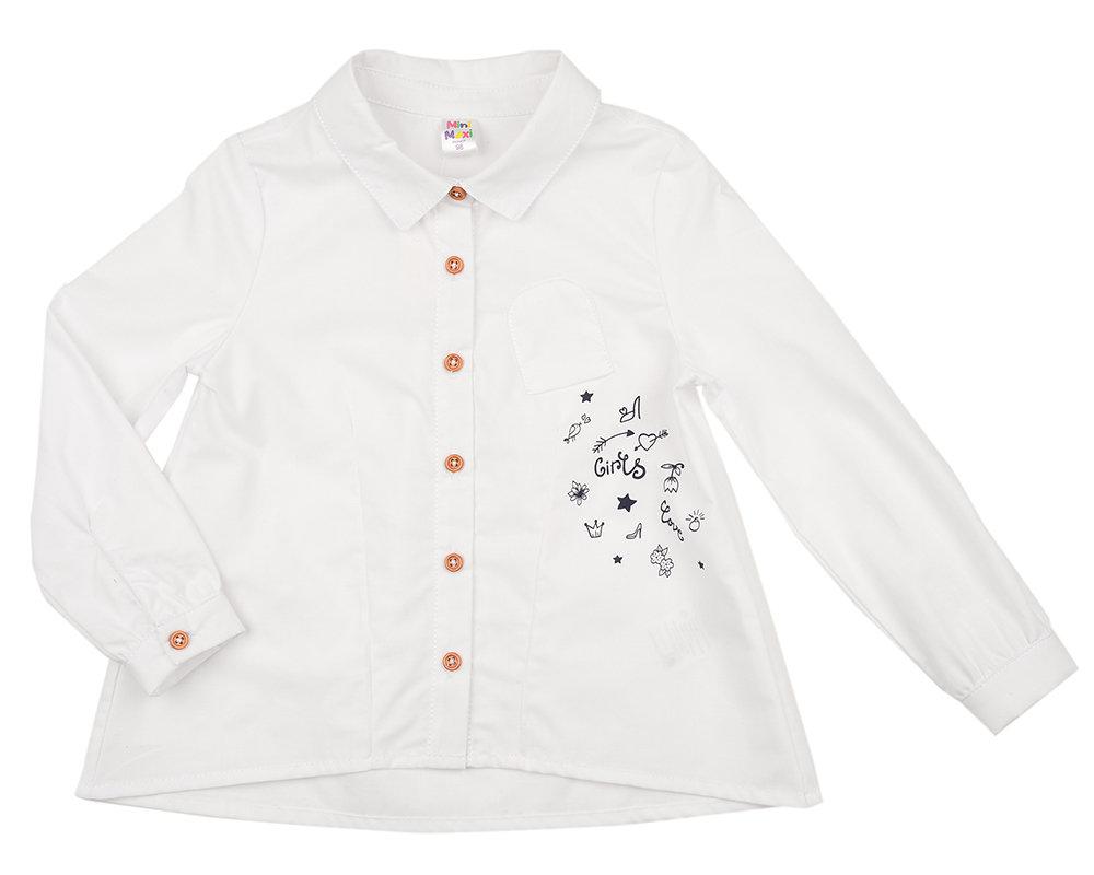 Сорочка (рубашка) (128-146см) UD 4971(2)белый UD 4971(2)белый