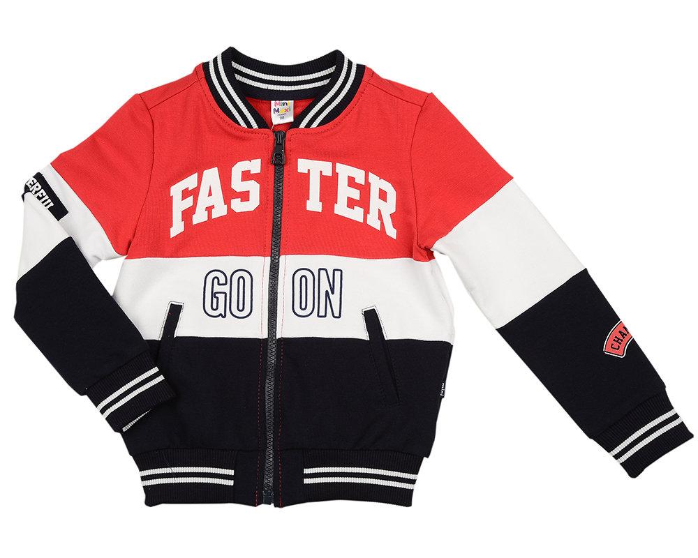 Бомбер (куртка) (98-122см) UD 4822(1)красный UD 4822(1)красный