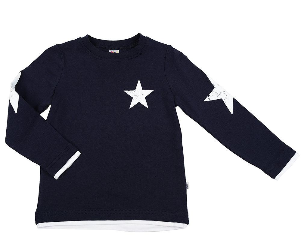 Футболка дл/рукав со звездой (98-122см) UD 0429(1)т.синий UD 0429(1)т.синий