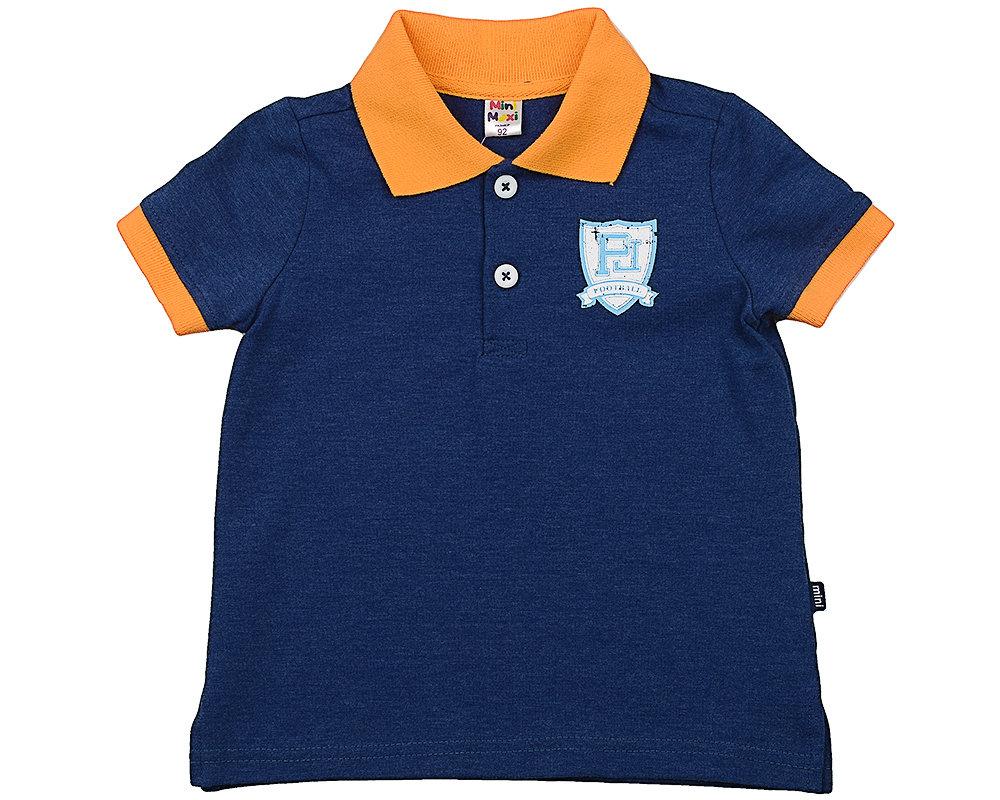 Футболка - поло (92-116см) UD 3232 син/оранж UD 3232 син/оранж