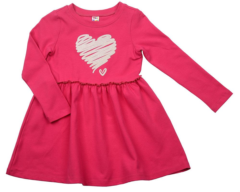 Платье Сердце (92-116см) UD 3832(1)малина UD 3832(1)малина