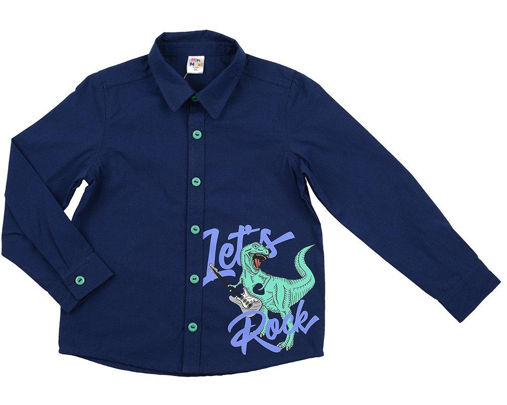 Сорочка (рубашка) (98-122см) UD 6020(1)синий UD 6020(1)синий
