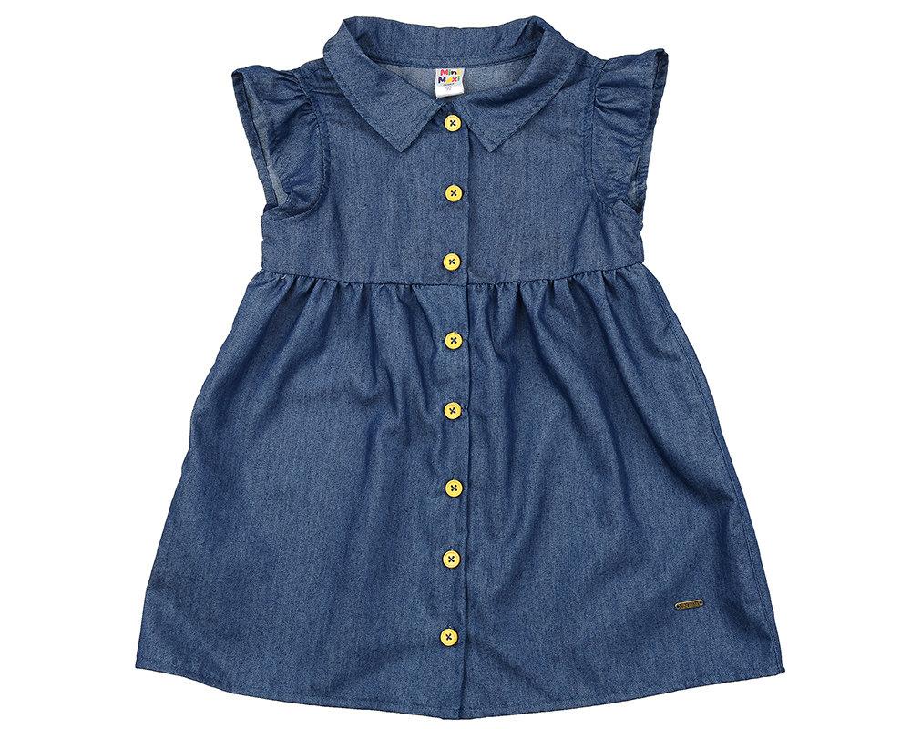 Платье (92-116см) UD 2787(5)джинс-желт