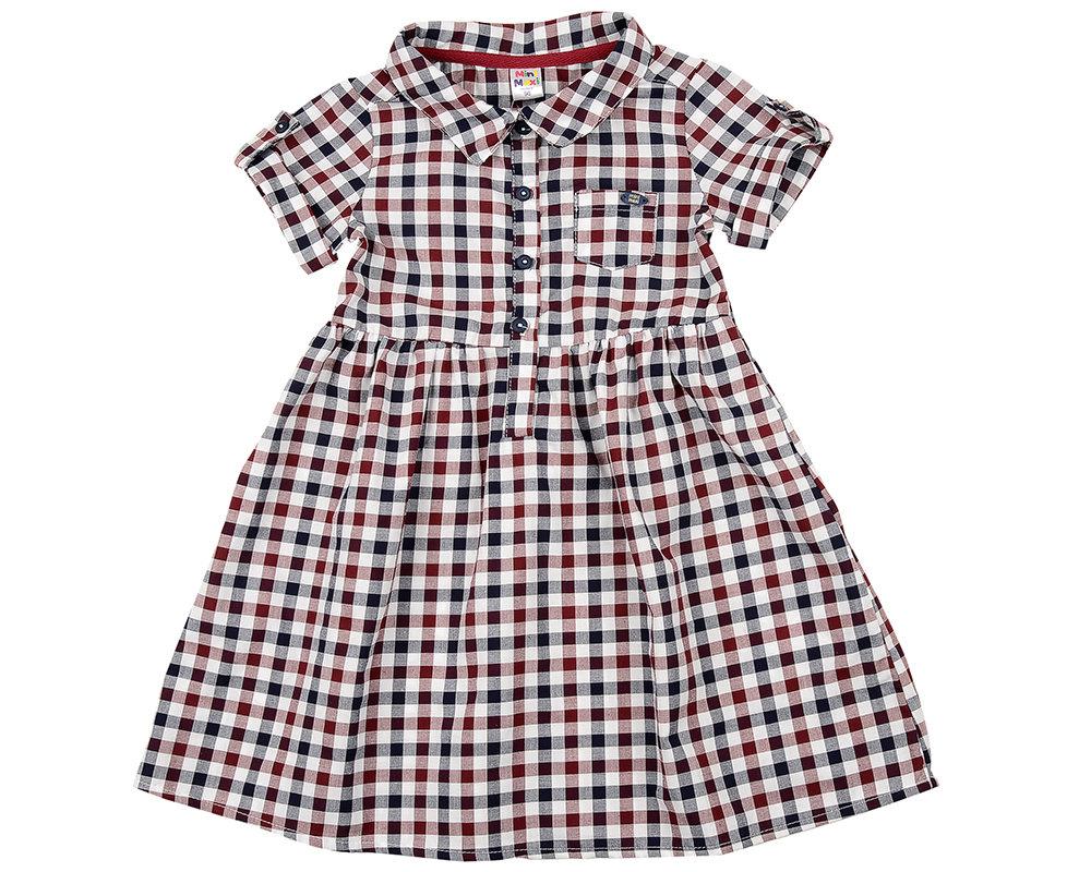 Платье в клетку (98-122см) UD 2684(5)бордо кл UD 2684(5)бордо кл