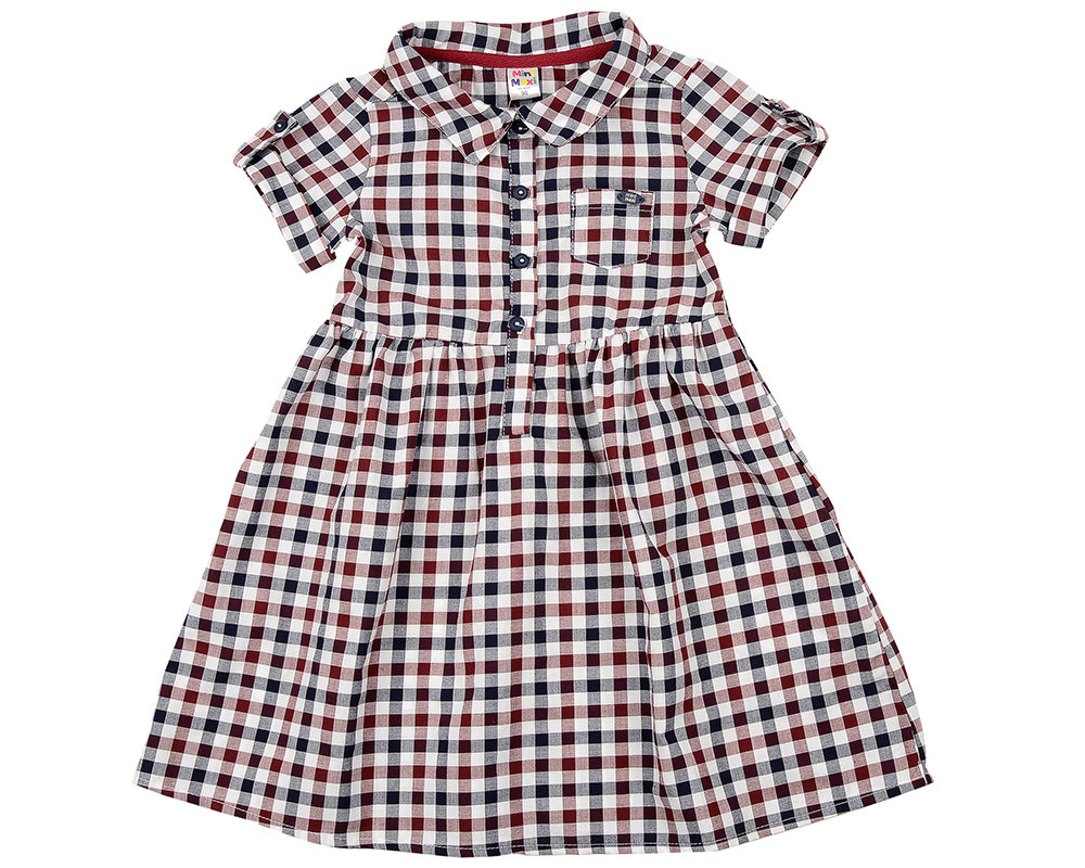 Платье в клетку (98-122см) UD 2684(5)бордо кл