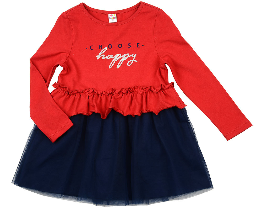 Платье (98-122см) UD 6090(2)крас-син UD 6090(2)крас-син