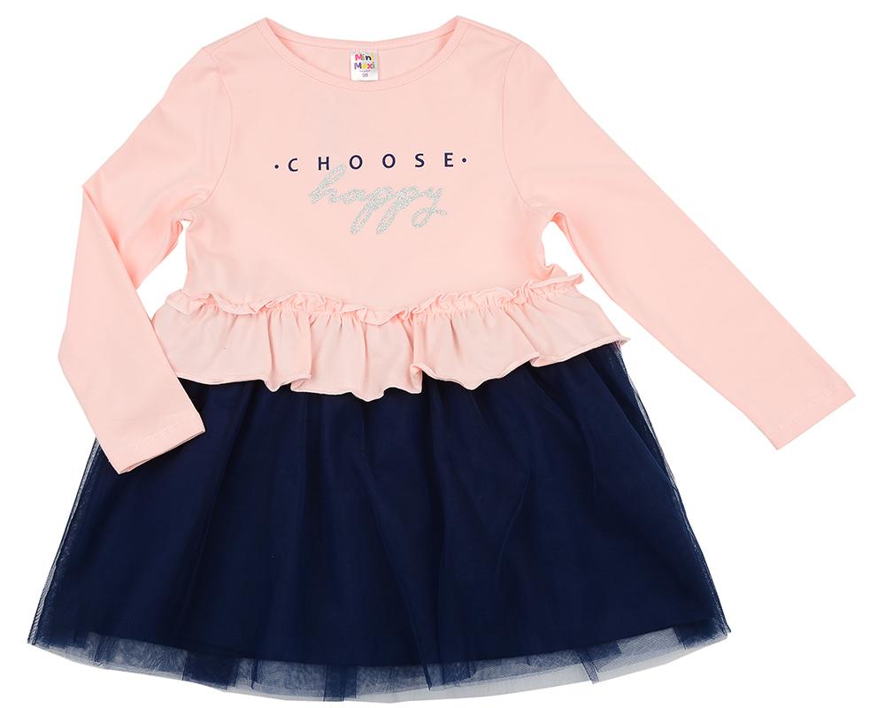 Платье (98-122см) UD 6090(1)роз/син UD 6090(1)роз/син
