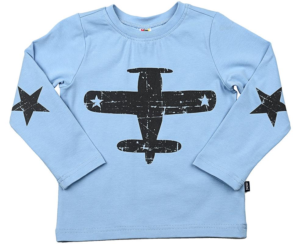 Футболка Самолетик (98-122см) UD 0610(8)гол-черн UD 0610(8)гол-черн