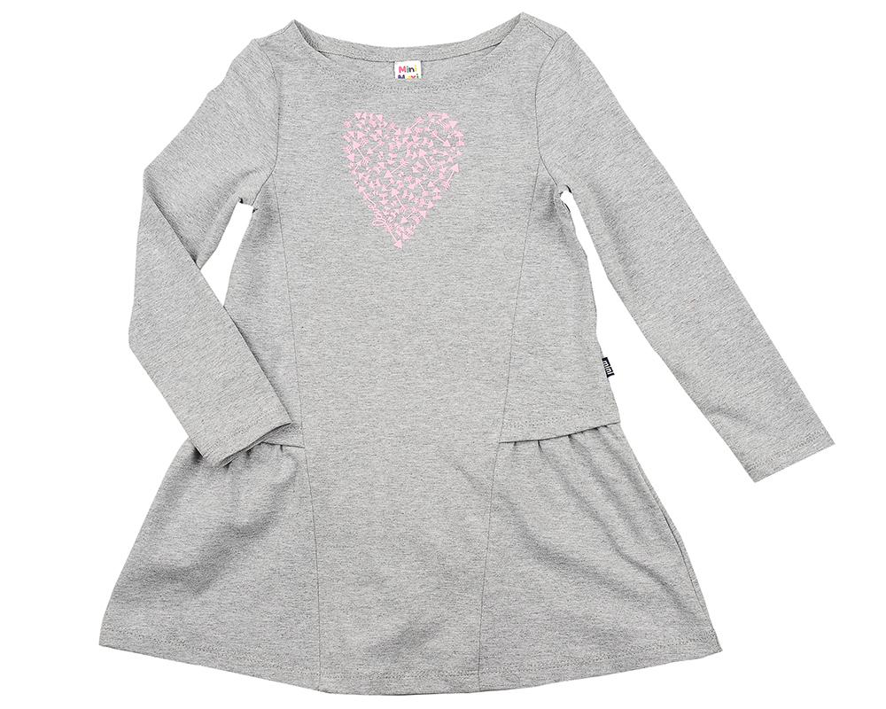 Платье (98-116см) UD 6159(2)серый UD 6159(2)серый