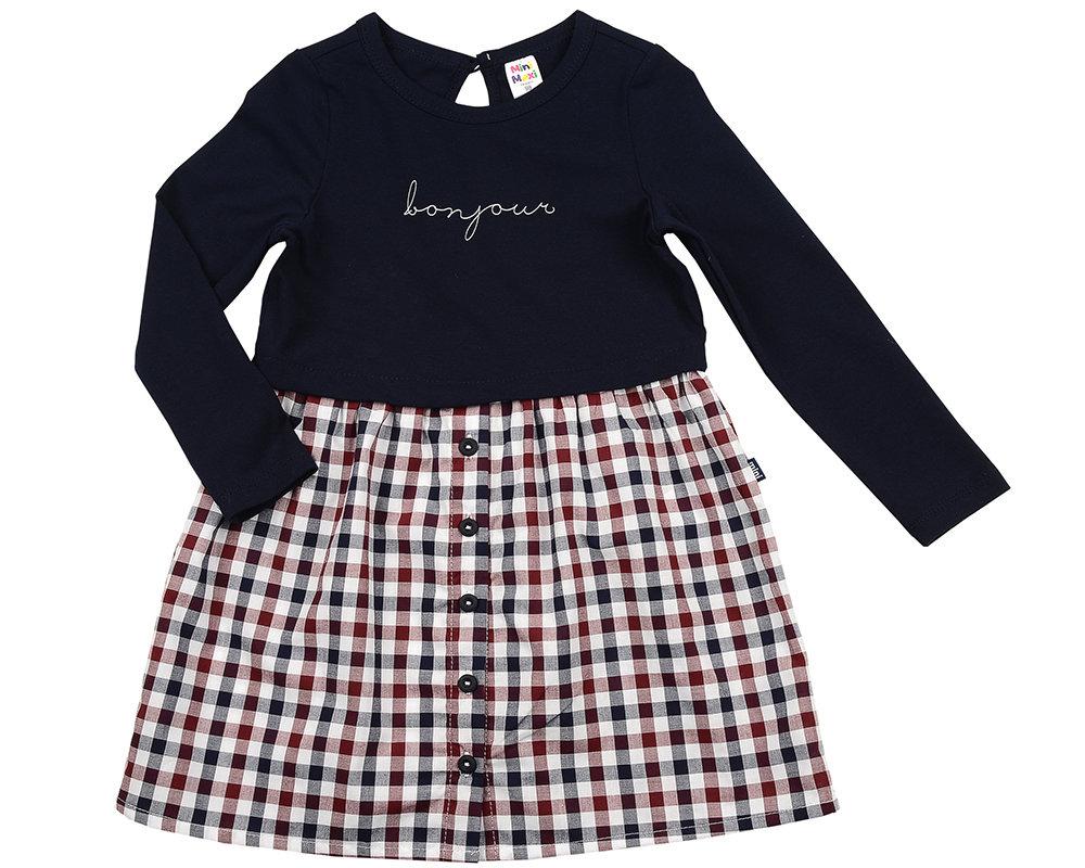 Платье (98-116см) UD 2142(1)син-бордо