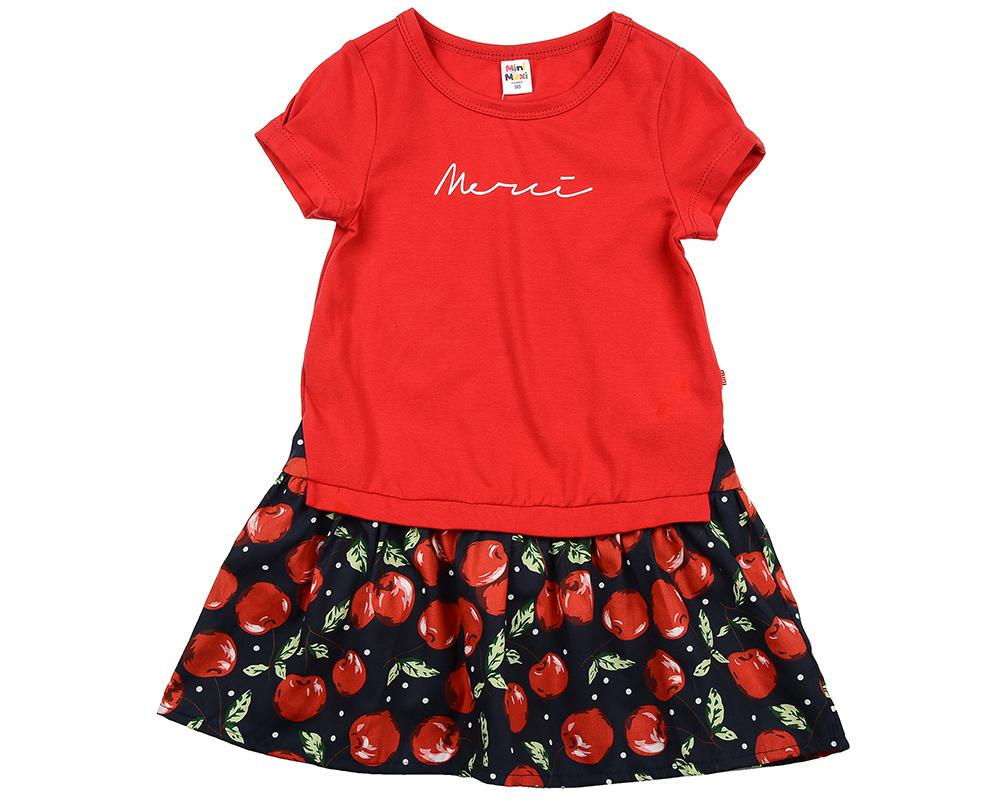 Платье (98-116см) UD 6216(2)крас/темн UD 6216(2)крас/темн
