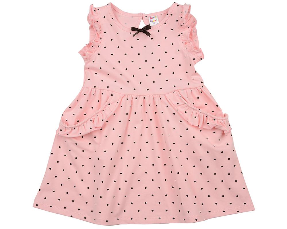 Платье в горох (92-116см) UD 2983(1)роз-коричн