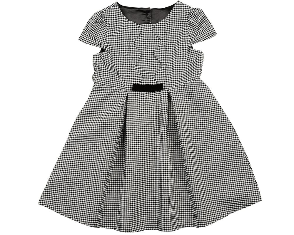 Платье (98-122см) UD 6229(1)клетка.черн UD 6229(1)клетка.черн