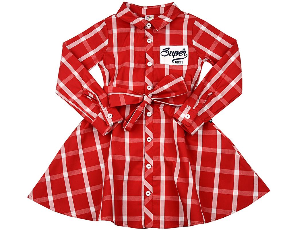 Платье (98-122см) UD 3736(8)крас-бел кл UD 3736(8)крас-бел кл