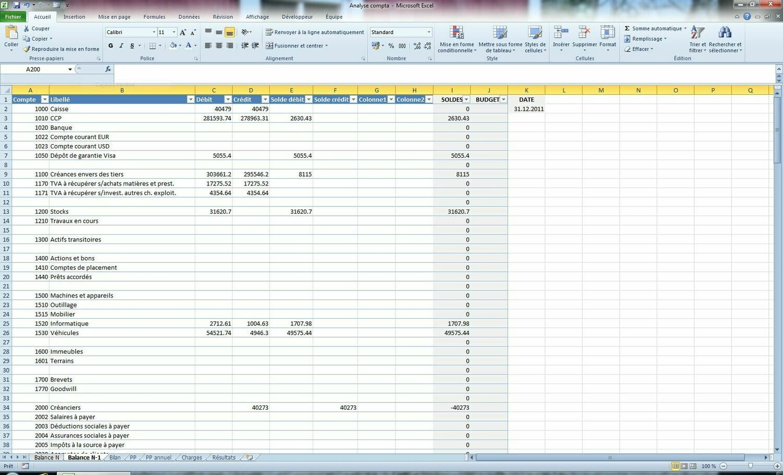 Analyse Compta (Excel)