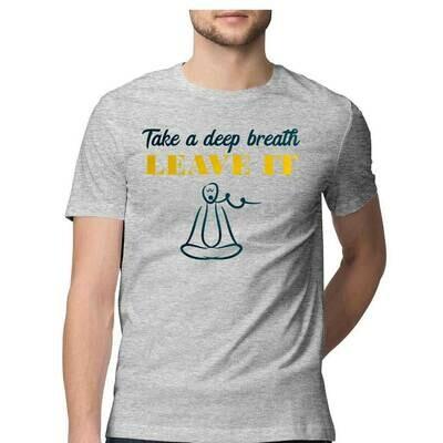 Take A Deep Breath Cool Yoga T-Shirt Design