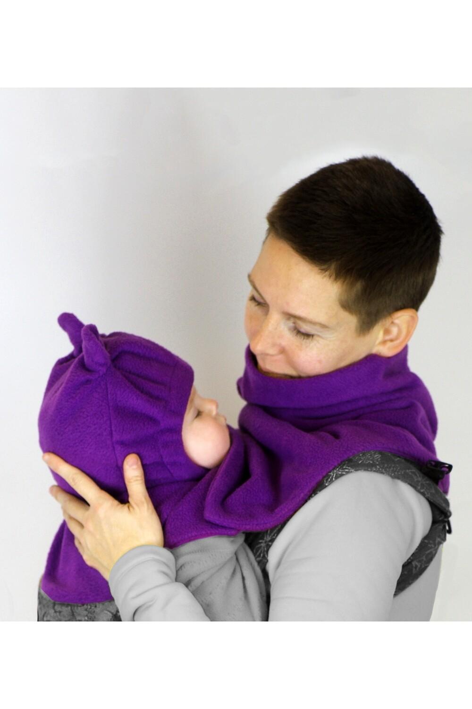 Подвійна манишка мама+малюк з дитячим шоломом