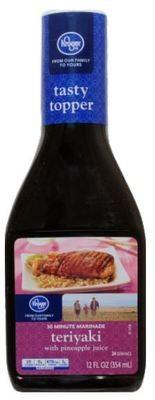 Teriyaki Sauce, Kroger® Teriyaki Marinade with Pineapple Juice (12 oz Bottle)