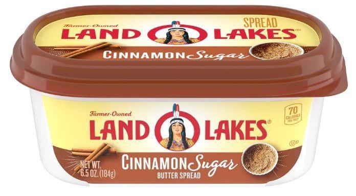 Butter, Land O Lakes® Cinnamon Sugar Butter Spread (6.5 oz Tub)