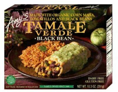 Frozen Tamale, Amy's® Organic, Tamale Verde, Black Bean (10.3 oz Box)