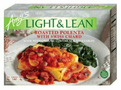 Frozen Pasta, Amy's® Organic, Light & Lean, Polenta, Roasted (8 oz Box)