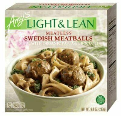 Frozen Meatballs, Amy's® Organic, Light & Lean, Meatballs, Meatless Swedish Meatballs (8 oz Box)