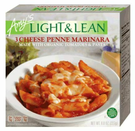 Frozen Pasta, Amy's® Organic, Light & Lean, Bowl, Cheese Penne (8 oz Box)