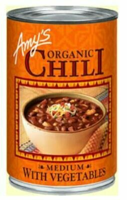 Chili, Amy's® Organic Medium Chili with Vegetables (14.7 oz Can)
