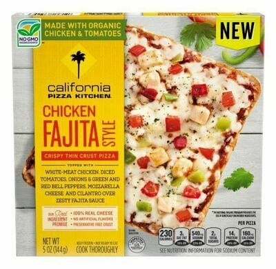 Frozen Pizza, California Pizza Kitchen® Small Chicken Fajita Style Pizza (5 oz Box)