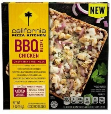 Frozen Pizza, California Pizza Kitchen® Small BBQ Chicken Pizza (5 oz Box)